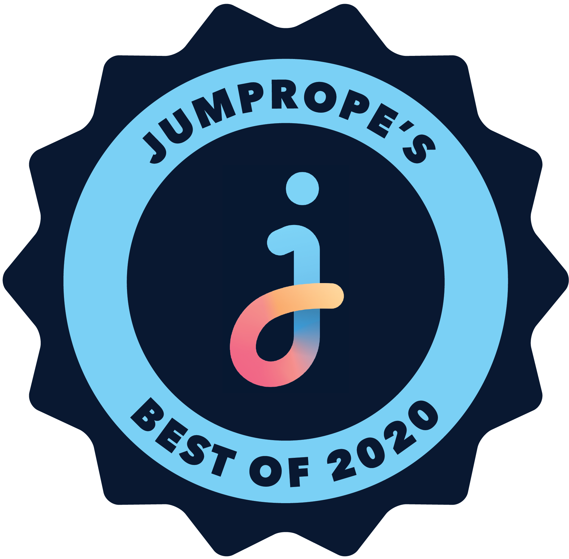 "Jumprope's ""Best of 2020"" badge."